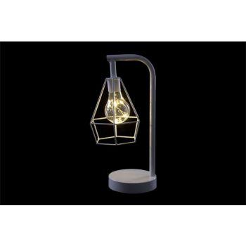 Cosy @ Home Lamp White Metal 15,5x12,5xh30,5 Geometr