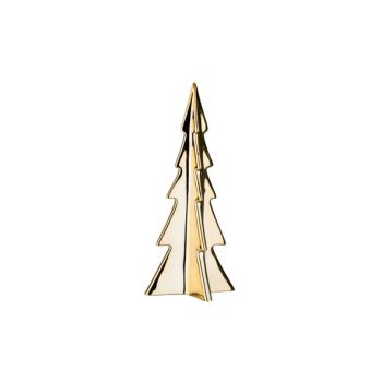 Cosy @ Home Xmas Tree Gold Porcelain 11,2x11,2xh26,5