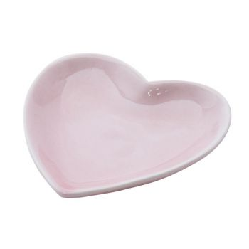 Cosy @ Home Plate Pink Heart Ceramic 9x1,4xh9
