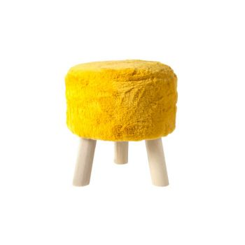 Cosy @ Home Stool Ochre Round Wool 35x35xh0 With Han