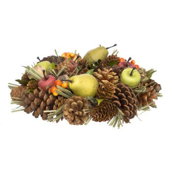 Cosy @ Home Autumn Wreath Nature Round Pvc 26x26xh8