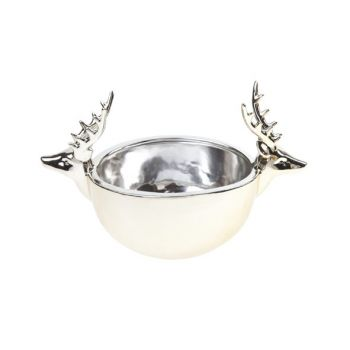 Cosy @ Home Bowl Gold Reindeer Pottery 21,5x13xh13