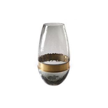 Cosy @ Home Vase Gray Oval Glass 15x15xh28