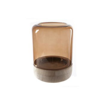 Cosy @ Home Wind Light Brown Cylindrical Glass 18x18