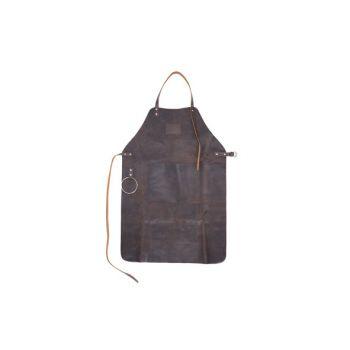 Cosy & Trendy Apron Dark Brown Leather 87x16cm