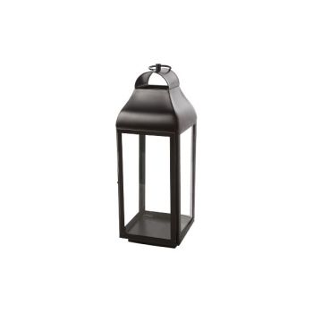 Cosy @ Home Lantern Brown Square Metal 20,25x20,25xh