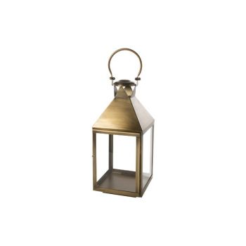 Cosy @ Home Lantern Brass Square Metal 23x23xh53,25