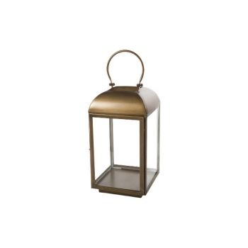Cosy @ Home Lantern Brass Square Metal 25,5x25,5xh47