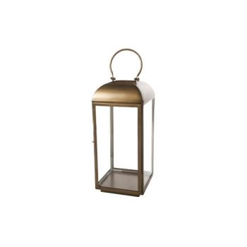 Cosy @ Home Lantern Brass Square Metal 25,5x25,5xh56