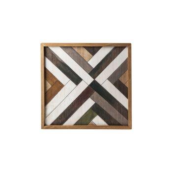 Cosy @ Home Tray Nature Rectangular Wood 35,6x35,6xh