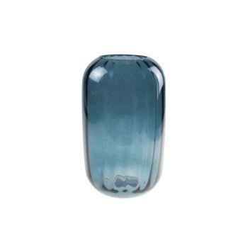 Cosy @ Home Vase Petrol Blue Round Glass 15x15xh25 O