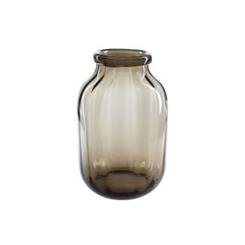 Cosy @ Home Vase Brown Round Glass 20,5x20,5xh32 Opt