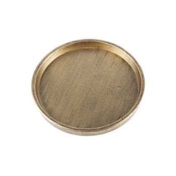 Cosy @ Home Deco Sign Brass Round Wood 0x0xh0