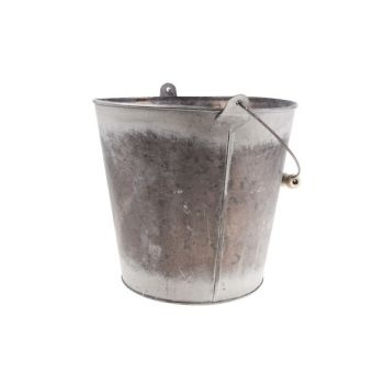 Cosy @ Home Flowerpot Gray Round Zinc L21,5 B20