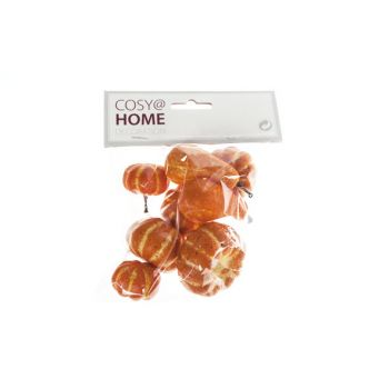 Cosy @ Home Pumpkin Set8 Orange Synthetic 3,3x3,3xh3