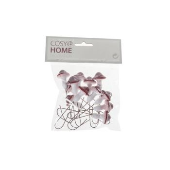 Cosy @ Home Pick Mushroom Set12 Red White Synthetic
