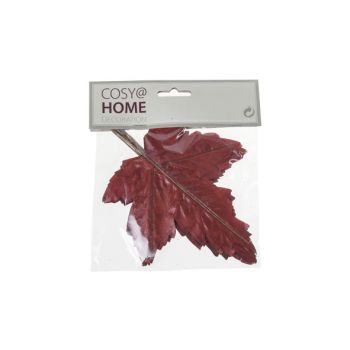 Cosy @ Home Autumn Leaves Set12 Burgundy Synthetic