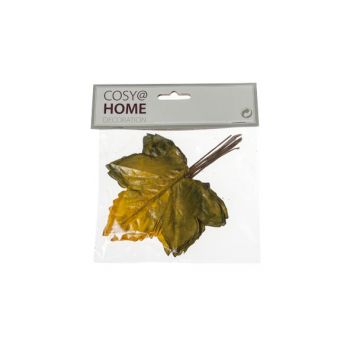 Cosy @ Home Autumn Leaves Set12 Yellow Synthetic