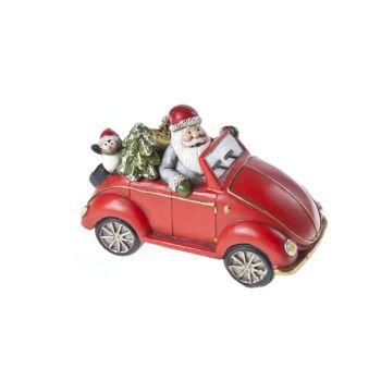 Cosy @ Home Car Red Ceramic 15,5x8xh10 Santa