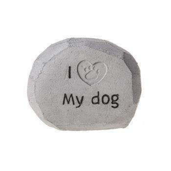 Cosy @ Home Tombstone Gray Resine 15x7,5xh12 I Love