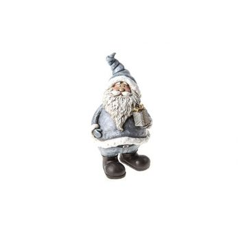Cosy @ Home Weihnachtsmann Gray Cer 10.5x10.5x19.5cm