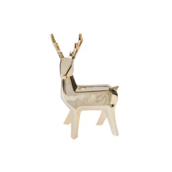 Cosy @ Home Deer Gold Pottery 14,8x8,7xh25,4 Electro