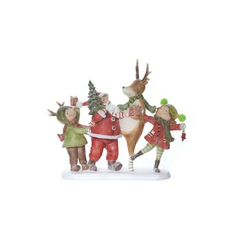 Cosy @ Home Weihnachtsmann Red Green Polyresin 25,7x