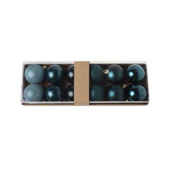 Cosy @ Home Xmas Ball Set12 Dark Blue Round Pvc 0x6x