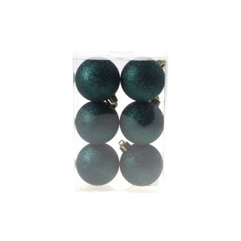 Cosy @ Home Xmas Ball Set6 Dark Blue Round Pvc 0x6xh