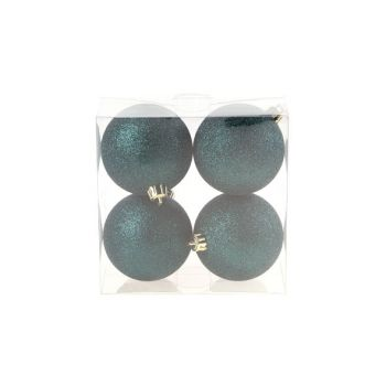 Cosy @ Home Xmas Ball Set4 Dark Blue Round Pvc 0x8xh