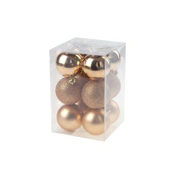 Cosy @ Home Xmas Ball Set12 Copper Round Pvc 0x6xh6