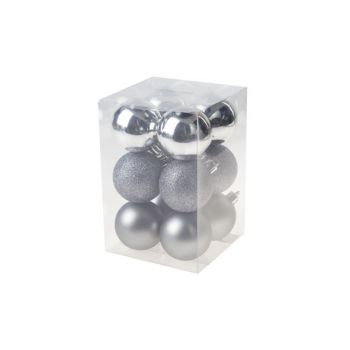Cosy @ Home Xmas Ball Set12 Silver Round Pvc 0x6xh6