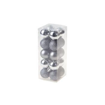 Cosy @ Home Xmas Ball Set20 Silver Round Pvc 0x3xh3
