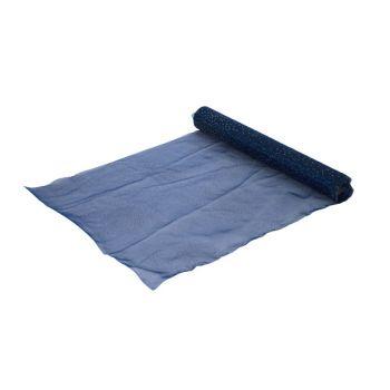 Cosy @ Home Tablerunner Dark Blue Organza L35 B200 W