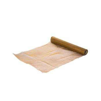 Cosy @ Home Tablerunner Brown Organza L35 B200 With