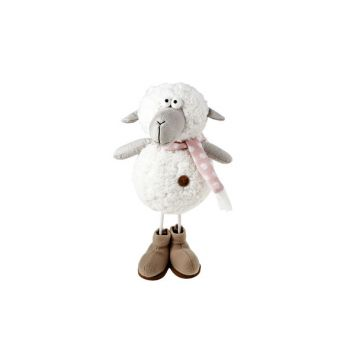 Cosy @ Home Sheep White Textile 18x15xh34 Standing