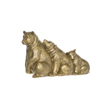 Cosy @ Home Bear Family Gold Polyresin 32x12,5xh20 S