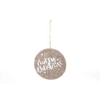 Cosy @ Home Hanging Ornament  Brown Felt D15cm