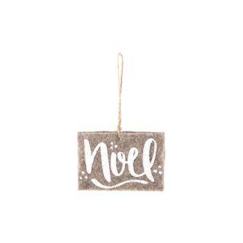Cosy @ Home Hanging Ornament  Brown Felt  8x11x1cm