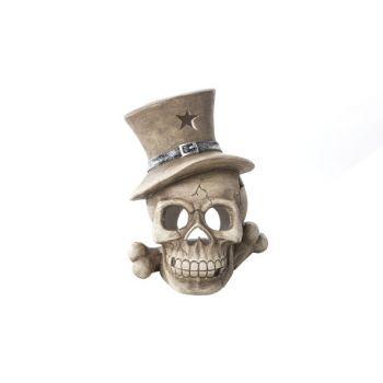 Cosy @ Home Skull Ivory Pottery 27x26xh33 Hat