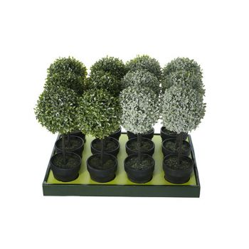 Cosy @ Home Wreath Set12 Green Synthetic 15x15xh43