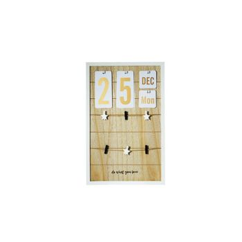 Cosy @ Home Calendar-memo Board  Wood 32x3xh50cm