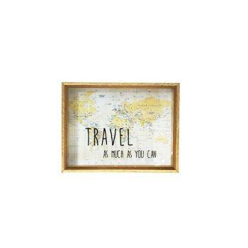 Cosy @ Home Money Box Travel Wood 26x20xh6cm