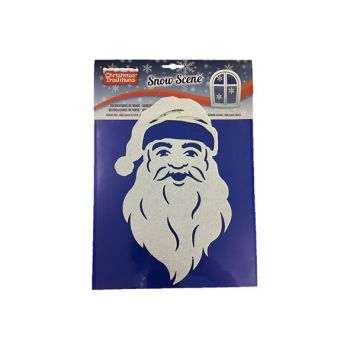 Goodmark Window Stickers Snow Scene Santa Felt