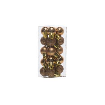 Cosy @ Home Xmas Ball Set20 Copper Round Pvc D2cm