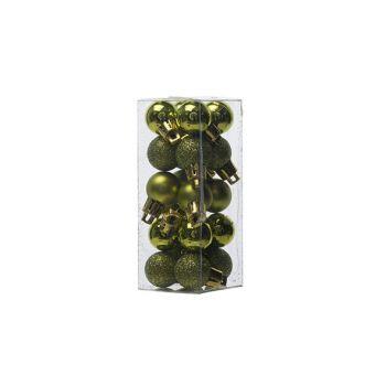 Cosy @ Home Xmas Ball Set20 Green Round Pvc D2cm