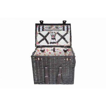 Cosy & Trendy Picnic Basket4p-4xcutlery-wine Glasses-