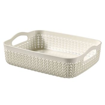 Curver Knit Tray A5 2.6l Oasis White  26x20x