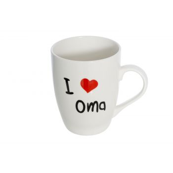 Cosy & Trendy Mug 'i Love Oma' D8.3xh10.5cm 36cl