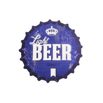 Cosy & Trendy Placemat Crown Look Blue Beer D38cm